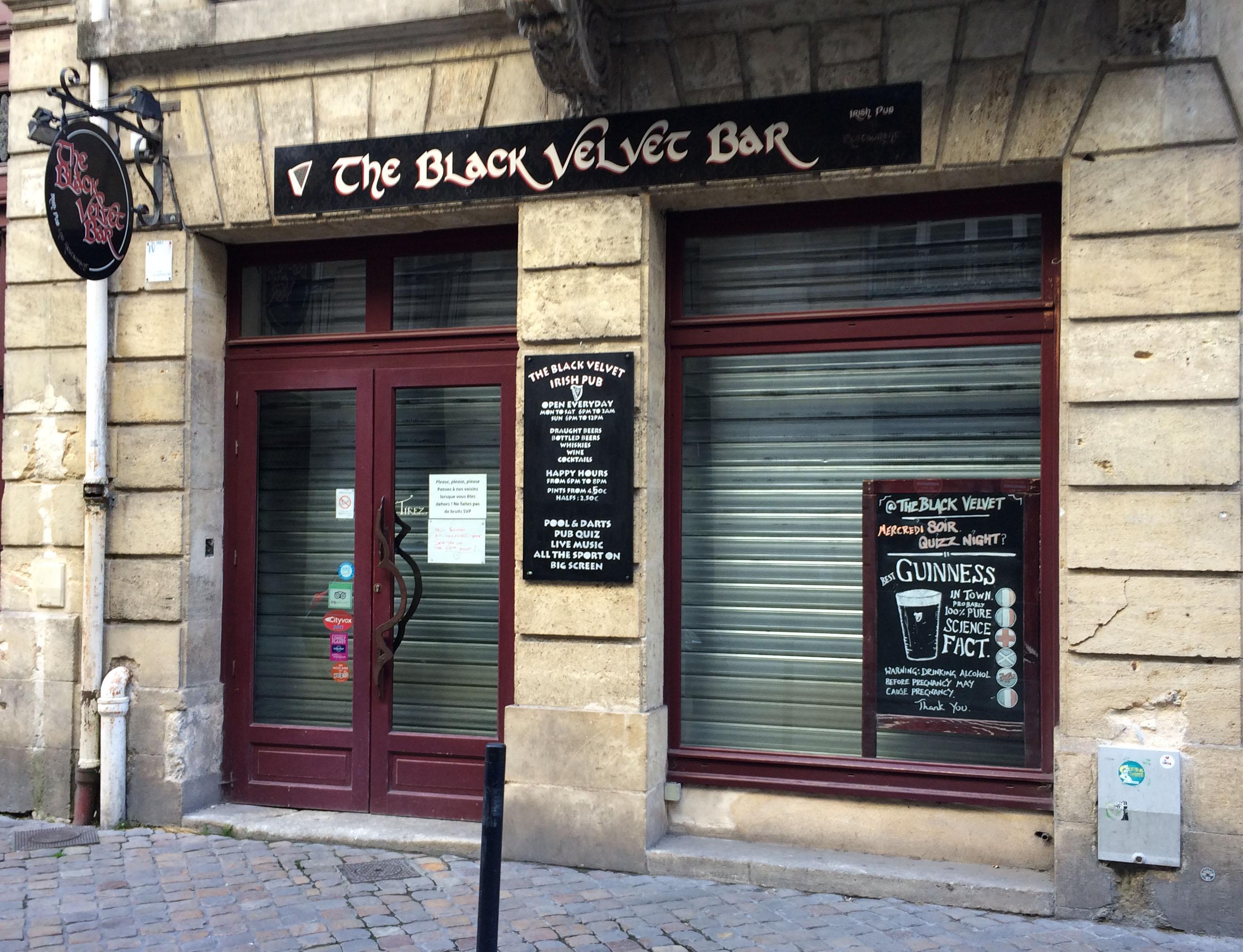 The Black Velvet Bar - Irish Pub - L\'Eddy Dine